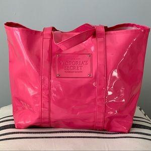 Victoria Secret Shiny Plastic Beauty Candy Tote